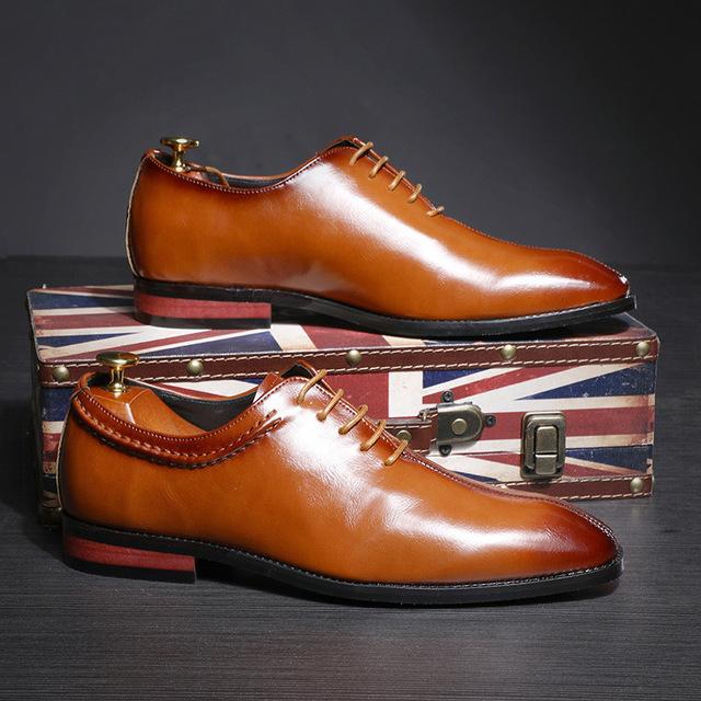 SJJL thị trường giày nam Phiên bản châu Âu của giày nam nhỏ vuông đầu giày nam thương mại nước ngoài