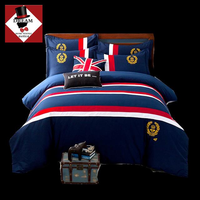 NIHAOMENG Dệt may gia dụng Túi đựng tóc giúp Bộ đồ giường châu Âu và châu Mỹ Huy hiệu thêu chăn của
