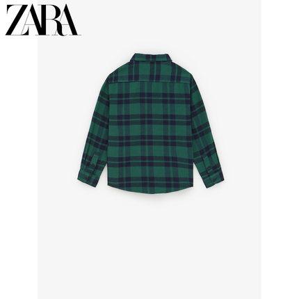 ZARA Áo Sơ-mi trẻ em  ZARA quần áo trẻ em mới cho bé trai mùa thu đông kẻ sọc flannel 03182760500