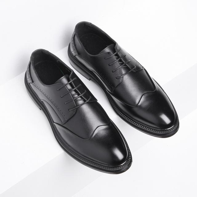 VELLDONE Giầy dép Túi tóc giúp giày nam mới Giày Brock nam phiên bản Hàn Quốc của xu hướng Anh khắc