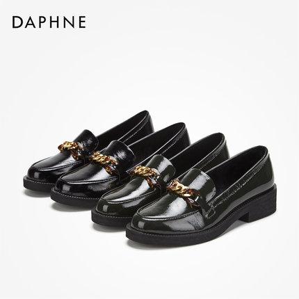 Giày mọi Gommino Daphne / Daphne 2019 mùa thu đầu tròn tiện lợi Giày Lok Fu Giày gió đế bằng