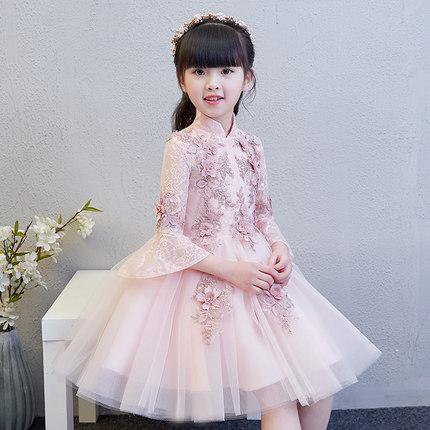 Zhitongdai Trang phục dạ hôi trẻ em Little Girl Princess Dress Girls Piano Costume Host Host Childre
