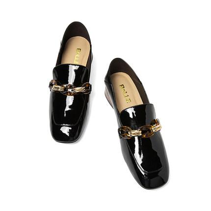 BELLE Giày da Giày nữ hiệu nữ mùa xuân 2018 của trung tâm mua sắm mới mùa thu 2019 với cùng một đoạn
