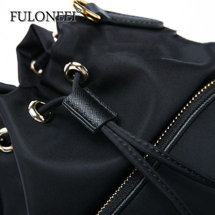 FULONEEI  Vải Nylon  Froni Raz 2018 Mới Hàn Quốc Mini Xô Vải Oxford Túi đeo vai Wild nylon Túi nhỏ
