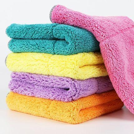 MUCHUN Vải khăn lông   Lau giẻ sofa, lau đồ đạc, lau bàn, lau vải, thấm xơ, nhung san hô, lau khăn,