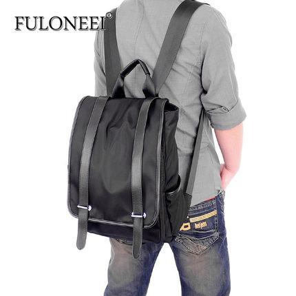 FULONEEI  Vải Nylon  Ba lô Fuloneei nam phiên bản Hàn Quốc của túi vải nylon túi du lịch sinh viên O