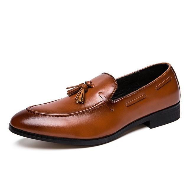 MSXS thị trường giày nam Túi tóc giúp mùa thu Anh giày nam một chân phiên bản Hàn Quốc của xu hướng