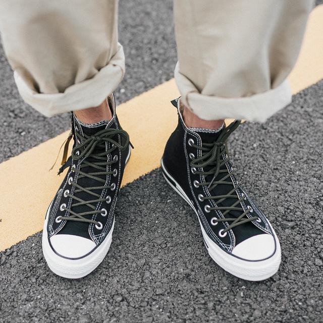 Giầy dép Túi tóc giúp giày vải cao cho nam mùa hè Học sinh Hàn Quốc xu hướng khóa kéo giày đen giản