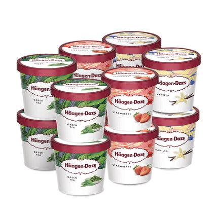 Haagen-Dazs Máy làm kem, sữa chua, đậu nành Kem Haagen-Dazs kết hợp cốc giấy nhỏ 12 gói SF giao hàng