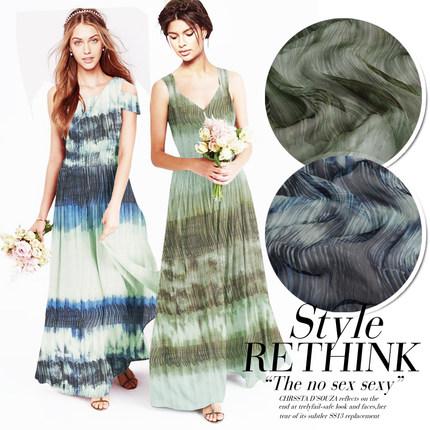 Vải Chiffon & Printing Đầm lụa lụa tơ tằm khăn lụa vải rộng mịn 纡 inkjet ink tie nhuộm 2 màu thành