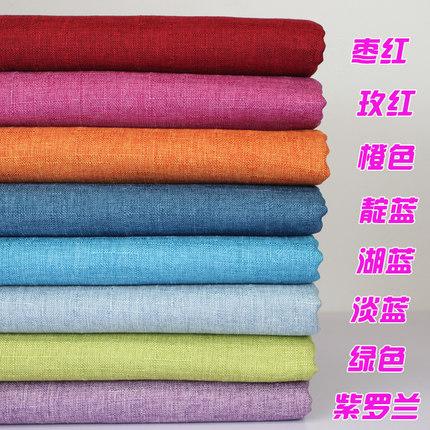 JINTU  Vải Linen Giá nửa mét Vải lanh màu xám xanh Vải gai tre Vải đệm sofa Vải nhung trở lại vải la