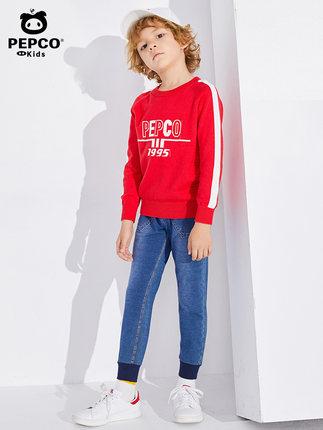 PEPCO  Quần trẻ em  Quần áo trẻ em Piggy Banner quần bé trai trong mùa đông và mùa đông quần jean mớ