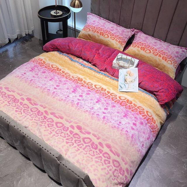 Dệt may gia dụng Spike mùa đông ấm áp bộ bốn mảnh cotton dày hai mặt chăn ga gối