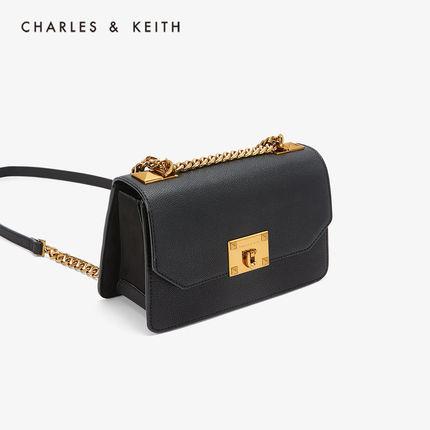 CHARLES & KEITH  Túi xách nữ thời trang  CHARLES & KEITH túi đeo vai CK2-80780832-1 dây đeo kim loại