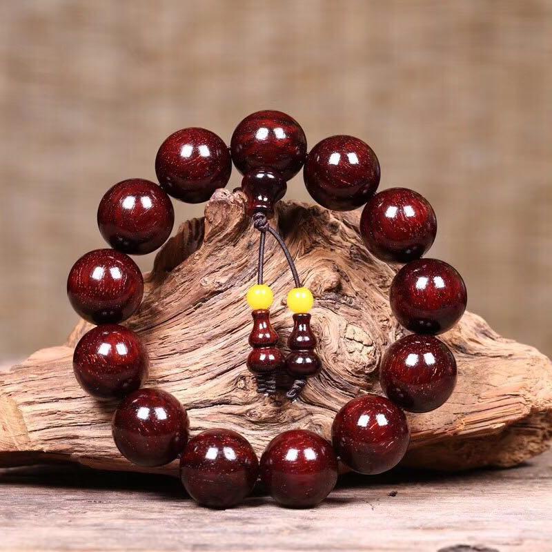 YIDUODUO Chuỗi phật Vòng đeo tay nhỏ bằng gỗ hồng mộc 15 và 1,8 vật liệu chìm Tân Tân Venus dầu cao