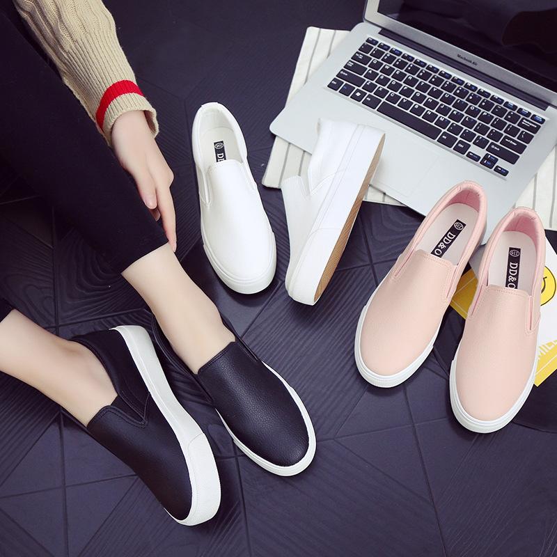 Giày Loafer / giày lười Túi tóc DDOO mới màu đen Giày đen Fu Fu nữ thấp để giúp giày lười một đôi gi