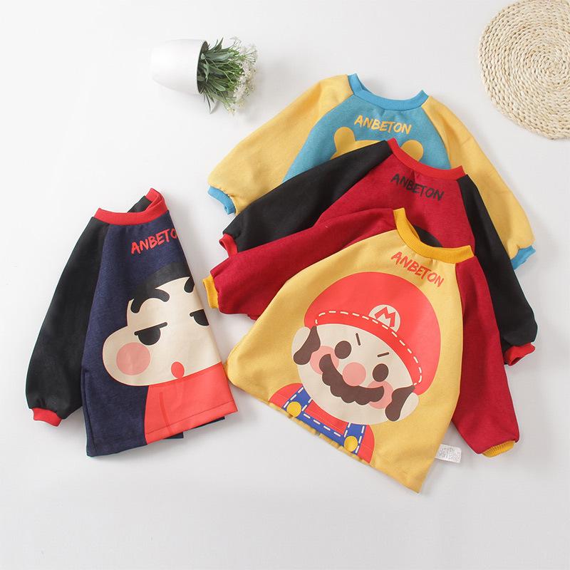 ANBEITONG Áo khoác Túi đựng tóc cho trẻ em mặc quần yếm nam nữ ăn yếm bé chống thấm sơn chống thấm t