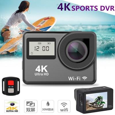 ECEL  ảnh thể thao 4K touch màn hình kép thể thao DV WIFI điều khiển từ xa ngoài trời camera HD chốn