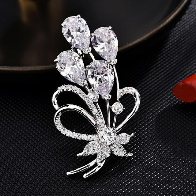 Phụ kiện thời trang Hoa trâm cài hoa sang trọng đơn giản thời trang trâm cài pin cao cấp hoa trâm cà