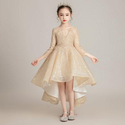 Zhitongdai Trang phục dạ hôi trẻ em Váy bé gái 2019 khí chất công chúa váy trẻ em chủ nhà trình diễn
