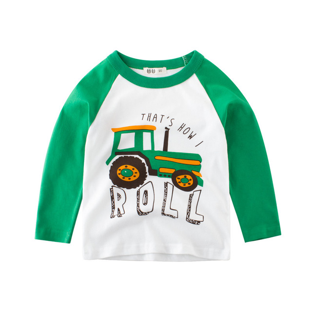 27KIDS Phong cách Hàn Quốc Mùa thu mới 2019 bé trai áo thun dài tay bán buôn quần áo trẻ em Quần áo