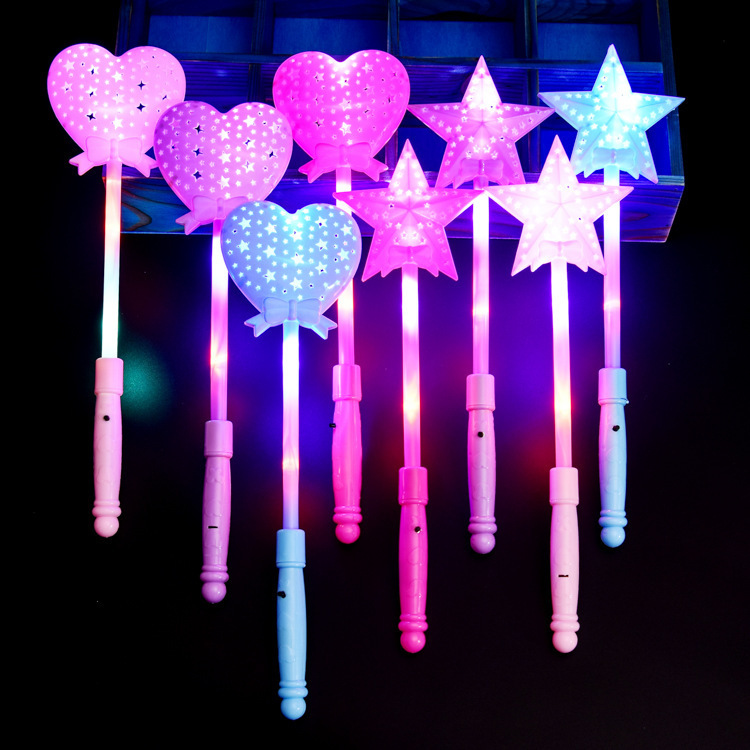 Đồ chơi phát sáng Đèn chiếu sáng buổi hòa nhạc Cây gậy năm cánh ngôi sao phép thuật rỗng Cây gậy năm