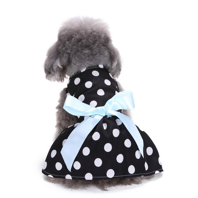 MEIQIPETBABY Vật nuôi Meiqi vụ nổ vật nuôi chấm quần áo thú cưng váy mùa hè dưa hấu quần áo chó