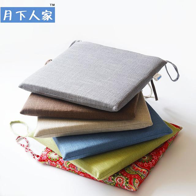 YXRJ Đệm ngồi Đệm vải phong cách Nhật Bản đệm bông vải lanh ghế văn phòng