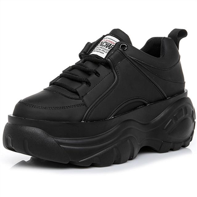 YINGFEIMAO Giày bánh mì Giày ga châu Âu 2019 mới đế giày đế dày đế dày 8cm tăng nhỏ giày trắng nữ th
