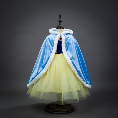 Áo choàng trẻ em  Áo choàng đông lạnh công chúa áo choàng cô gái dễ thương khăn choàng trẻ em mùa đô