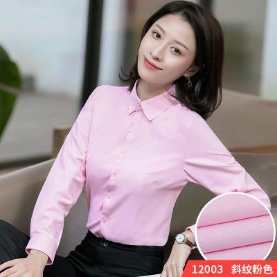 Phong cách Hàn Quốc Áo sơ mi xuân 2019 nữ dài tay chuyên nghiệp mặc dụng cụ Hàn Quốc áo sơ mi nữ đi