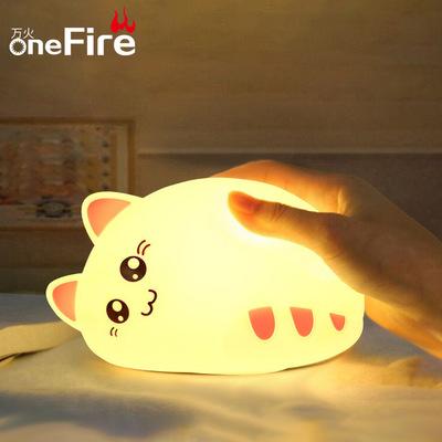 onefire Đèn tường Quà tặng sáng tạo Mèo đầy màu sắc Đèn led Pat pat night light Phòng ngủ mới lạ bên