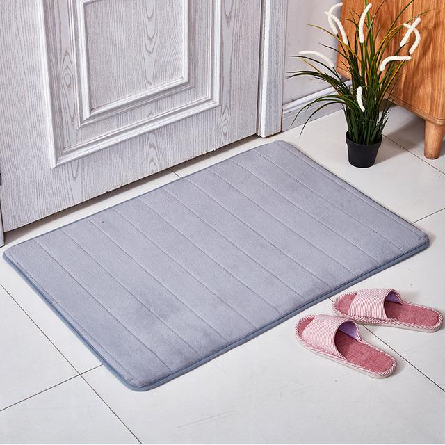 XINYA Đệm chân Túi giúp xuyên biên giới cho bộ nhớ bọt dày phòng tắm thảm lông cừu san hô chống trượ