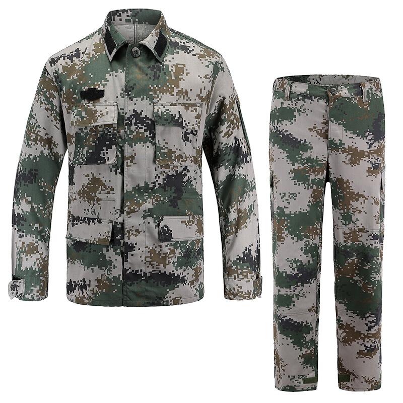 JIEMENGZHE Áo nguỵ trang lính 07 phong cách đất ngụy trang mùa hè phù hợp với bộ rừng kỹ thuật số ng
