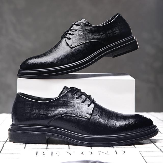 CHENGFA thị trường giày nam Túi làm tóc giày nam 2019 mới kinh doanh giày nam giản dị cộng với nhung