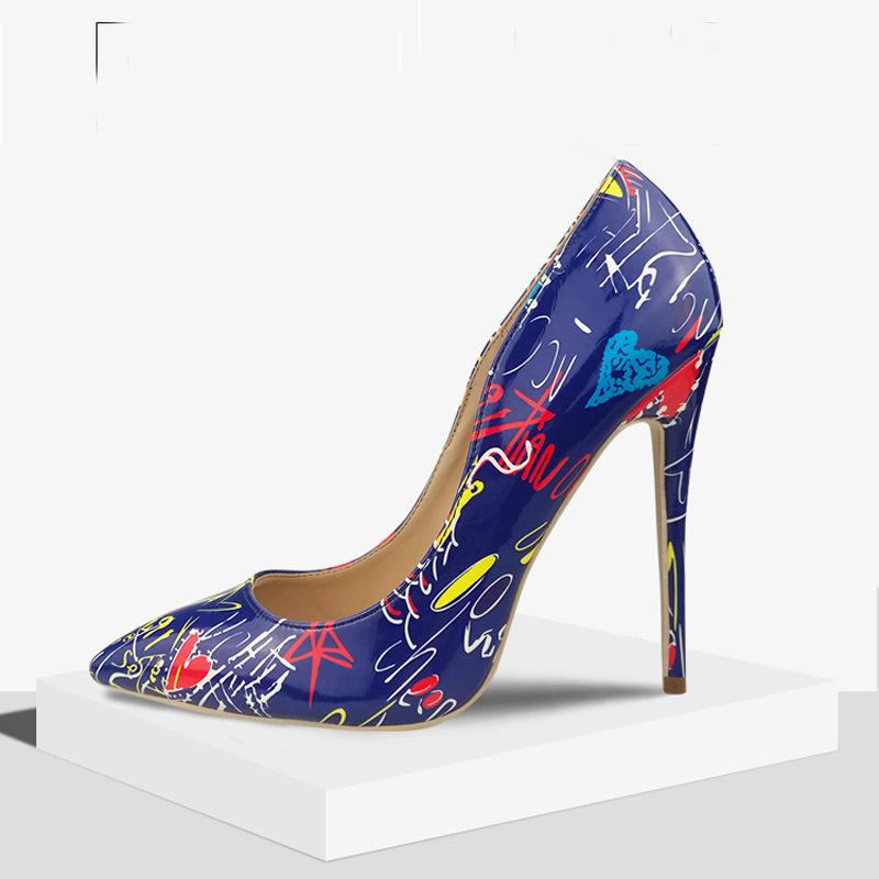 Giày búp bê cao gót mũi nhọn gợi cảm dành cho nữ .