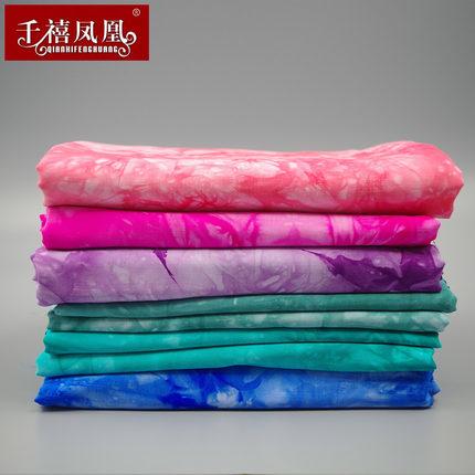 Vải Chiffon & Printing Vân Nam màu xanh tie-nhuộm vải rayon mùa hè quần áo váy quần áo cotton vải bô