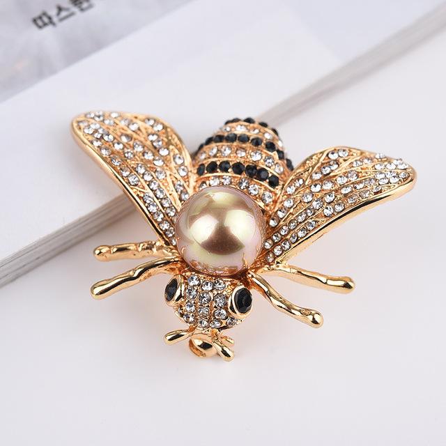 Phụ kiện thời trang Túi kẹp tóc thời trang động vật mới ong trâm nữ phụ kiện nước nóng ngọc trai nướ