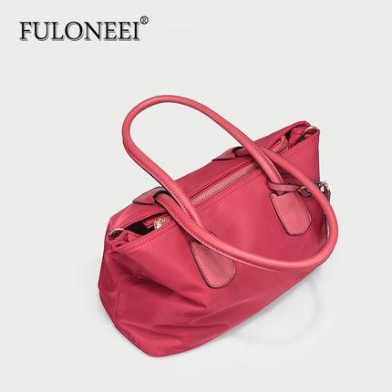 FULONEEI  Vải Nylon  Furoni 2018 phiên bản Hàn Quốc của túi xách nữ mới túi cô dâu rượu vang đỏ vải
