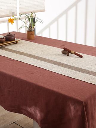 Mobukia Vải Hemp ( Ramie) Mubu Kasha vải ramie bảng cờ hiện đại tối giản sâu cà phê Trung Quốc bàn t