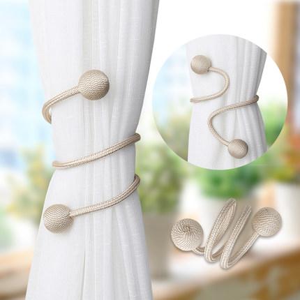 LIANBULIANJIA Dây cột rèm  Hiện đại tối giản dây đai dây buộc dây miễn phí đấm dây đai hình dạng miễ