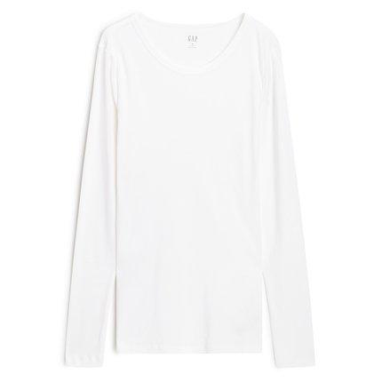 GAP Áo thun Pre-sale Gap áo sơ mi cổ tròn màu trơn của phụ nữ 496126 2019 mới xu hướng thời trang áo