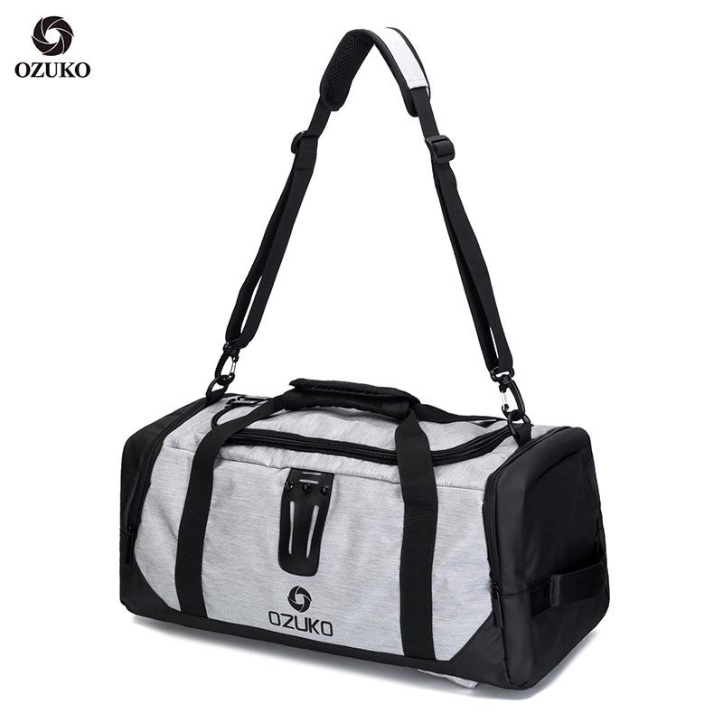 Ozuko Túi và túi Túi du lịch mới Túi hành lý du lịch ngoài trời Túi vải Oxford cỡ lớn thông thường