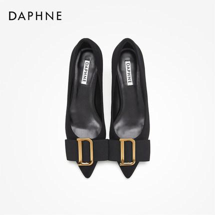 Daphne  Giày da một lớp   Daphne / Daphne 2019 mùa thu khóa thanh lịch cho mèo với giày đơn khí chất