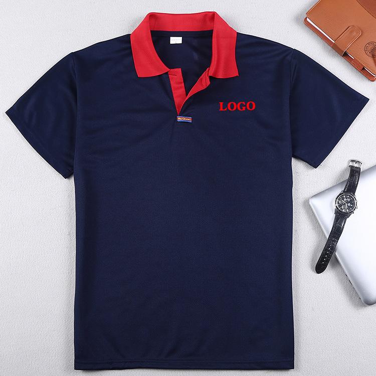 Áo thun mau khô Mùa hè tốc độ khô màu ve áo ngắn tay áo tùy chỉnh quảng cáo sự kiện quảng cáo áo sơ