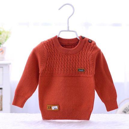 AIMIANFANG Vải dệt kim  Yêu cotton vuông bé len áo len đầu bé trai và bé gái bé len cotton 4 áo len