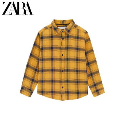 ZARA Áo Sơ-mi trẻ em  ZARA quần áo trẻ em mới cho bé trai mùa thu đông kẻ sọc flannel 03182760302