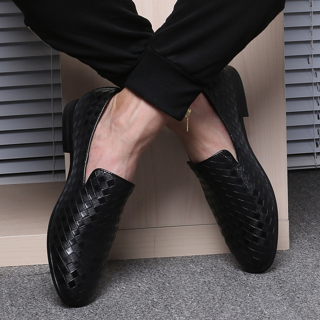 SJJL Giầy dép Giày da dệt hợp thời trang Mô hình nổ nổ Giày bán buôn giày đơn