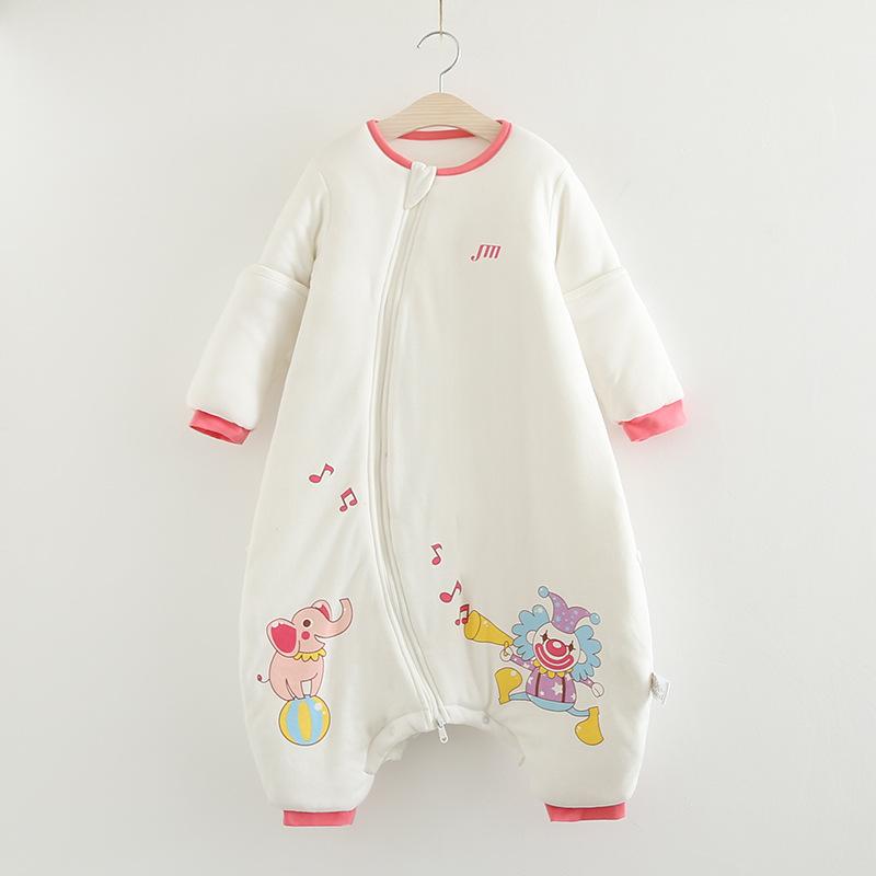 Bộ Body ngủ cotton dày có thể tháo rời tay cho bé .