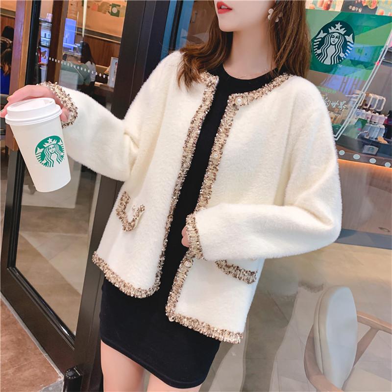 OLOEY hàng trào lưu mới Mùa thu đông 2019 phiên bản mới của Hàn Quốc áo len nữ lửng ngắn lười gió dà